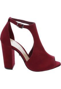 Sandália Block Heel Red | Schutz