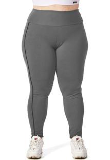 Calça Legging Plus Cinza Janfer
