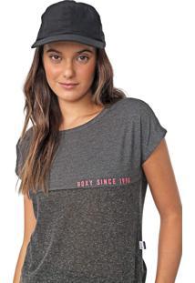 Camiseta Roxy Part Time Grafite