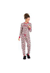 Pijama Feminino Inverno Mickey E Minnie Evanilda
