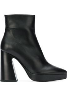 Proenza Schouler Ankle Boot De Couro - Preto