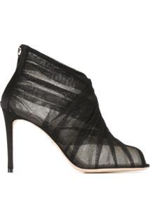 Dolce & Gabbana Ankle Boot De Tule - Preto