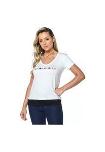 T-Shirt Daniela Cristina Gola V Profundo 03 602Dc10303 Branco