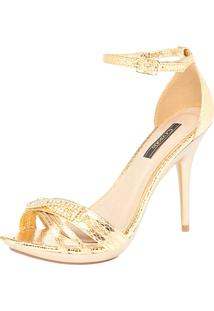 Sandália Crysalis Mirror Dourado