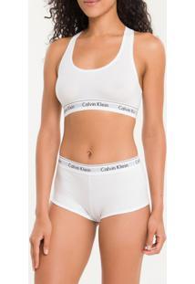Calcinha Short Modern Cotton - Branco 2 - G