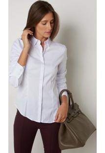 Camisa Le Lis Blanc Priscila Lisa 1 Branco Feminina (Branco, 46)