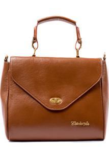 04f1b9167 ... Bolsa Feminina Brilho Da Pele Couro Legítimo Handbag Com Alça Tiracolo Marrom  Caramelo - Un