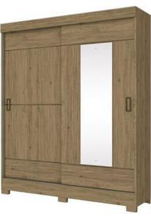 Guarda Roupa Briz 2 Portas Deslizantes 1 Espelho Rústico