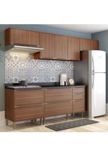 Cozinha Completa 6 Módulos 8 Portas Calábria Multimóveis Nogueira