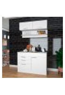 Cozinha Compacta Carlu 4 Pt 2 Gv Branca