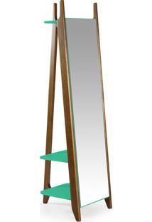Espelho Stoka 169,5 Cm 988 Nogal/Verde Anis - Maxima