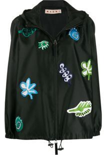 Marni Patch-Embellished Jacket - Preto