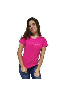 Camiseta Feminina Cellos Stretched Premium Rosa