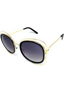 Óculos Solar Cayo Blanco Redondo Preto