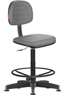 Cadeira Caixa Alta Secretária Giratória Chumbo