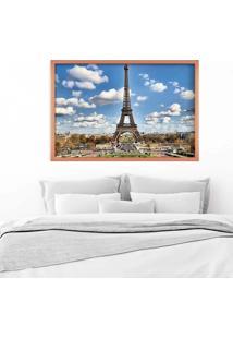 Quadro Love Decor Com Moldura Magnifique Paris Rose Metalizado Médio