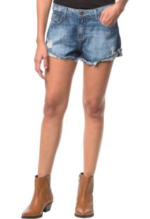 Shorts Jeans Five Pockets - Azul Médio - 34