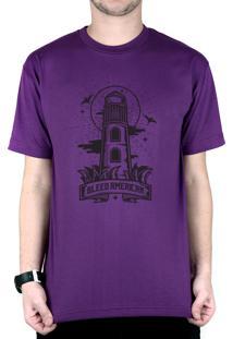 Camiseta Bleed American Lighthouse Roxo