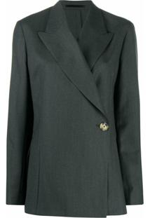 Remain Double-Breasted Wool Blazer - Cinza