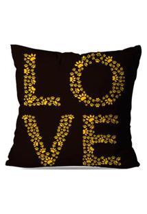 Capa De Almofada Decorativa Love 45X45Cm