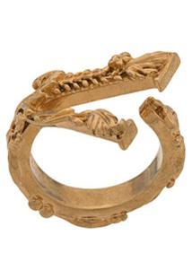 Versace Dv Barocco Ring - Dourado