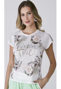 "T-Shirt Celestine Estampada Born Free"""" - Kanui"
