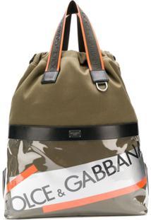Dolce & Gabbana Mochila Com Logo - Verde