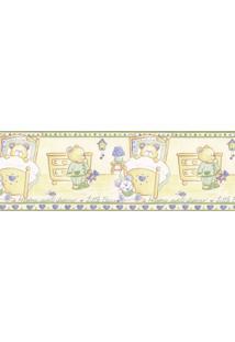Papel De Parede Border Figuras Verde, Bege Ursos 5503 Bobinex