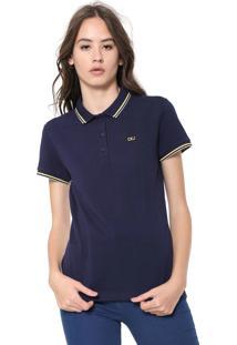 8092285e7672c ... Camisa Polo Calvin Klein Jeans Listras Azul-Marinho
