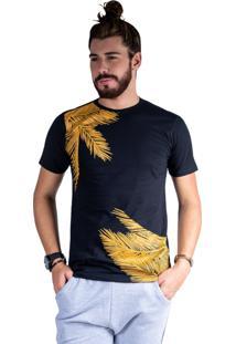 Camiseta Mister Fish Estampado Palmeiras Preto