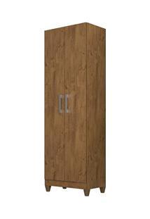 Armário Multiuso Organizador 2 Portas Astrid M07 Castanho Wood - Mpoze