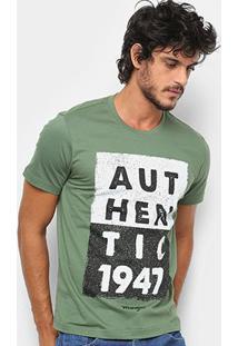 Camiseta Wrangler Authentic Masculina - Masculino-Verde