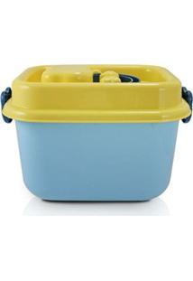 Caixa Organizadora Infantil De Plástico 8L Jacki Design - Unissex-Azul