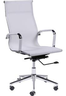 Cadeira Office Eames Em Tela- Branca- 112X61X47Cm