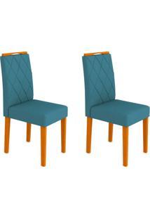 Conjunto Com 2 Cadeiras Isabela Ipê E Azul