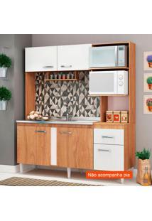 Cozinha Compacta Julia 5 Pt 1 Gv Nogal E Branco