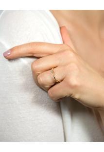 Anel Solitário De Ouro 18K Diamante 14 Pontos Desire
