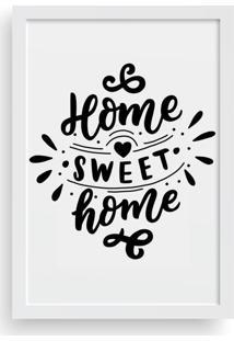 Quadro Love Decor Decorativo Com Moldura Home Sweet Home