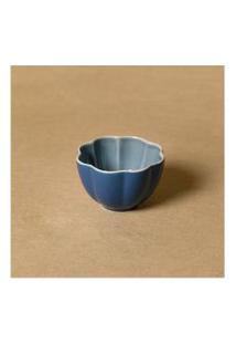 Vaso Em Cerâmica Cor: Azul - Tamanho: Único