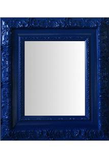 Espelho Moldura Rococó Externo 16348 Azul Art Shop