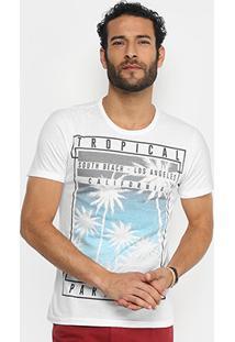 Camiseta Kohmar Tropical Manga Curta Masculina - Masculino
