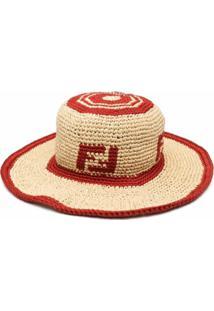 Fendi Chapéu Com Estampa Ff - Neutro