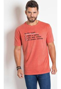 Camiseta Actual Laranja Estonada