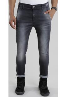 Calça Jeans Cropped Preta