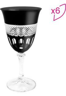 Jogo De Taças Para Vinho Tinto Kleopatra Branta- Cristalrojemac