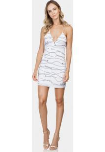 Vestido Com Alças Estampado Tecido Riviera - Lez A Lez