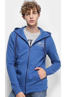 Jaqueta Moletom Tommy Jeans Essential Graphic Zip Thru Masculino - Masculino-Azul