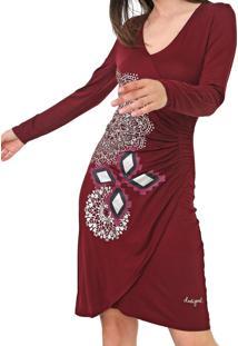 Vestido Desigual Curto Abigail Vinho