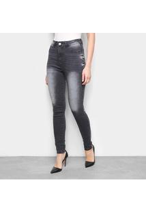 Calça Jeans Estonada Feminina - Feminino