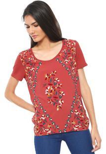 Camiseta Hering Estampada Rosa